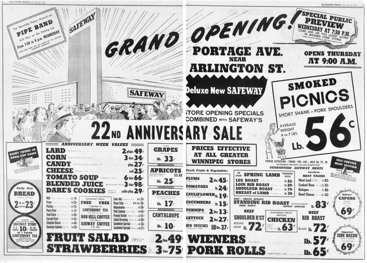Winnipeg Downtown Places: 905 Portage Avenue - Former Safeway / FOODFARE