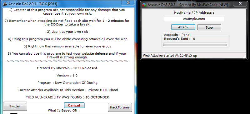 Assassin DoS 2 0 3 -Tutorial + Download - tunisian-hackers