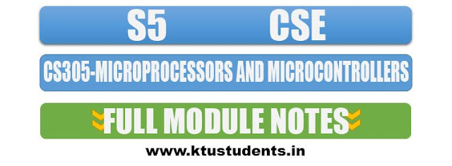 KTU CS305 Full note microprocessors and microcontrollers