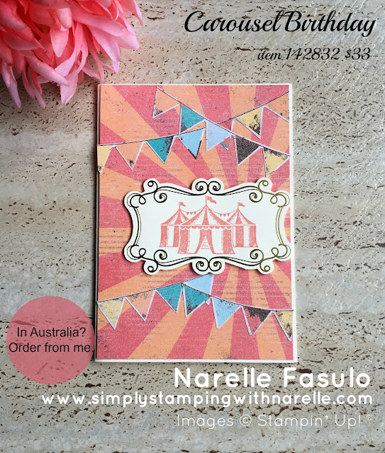 Carousel Birthday - Simply Stamping with Narelle -available here - http://bit.ly/2lttqGj