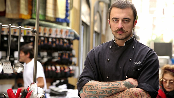 Immagine che ritrae Gabriele Rubini alias chef Rubio