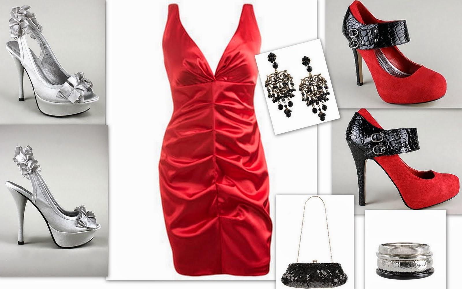 Mi Mundo Fucsia Zapatos Para Un Vestido Rojo