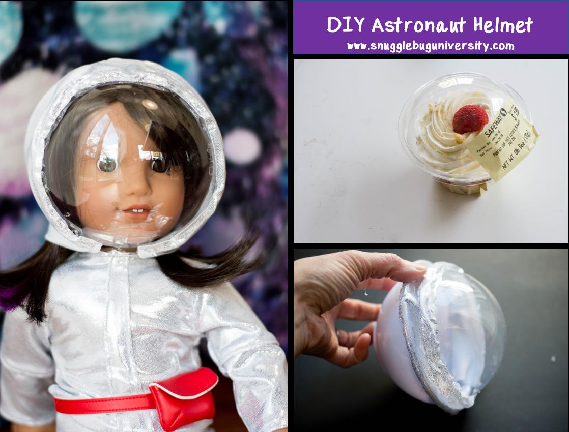 Snugglebug University: Make an astronaut helmet for your doll!