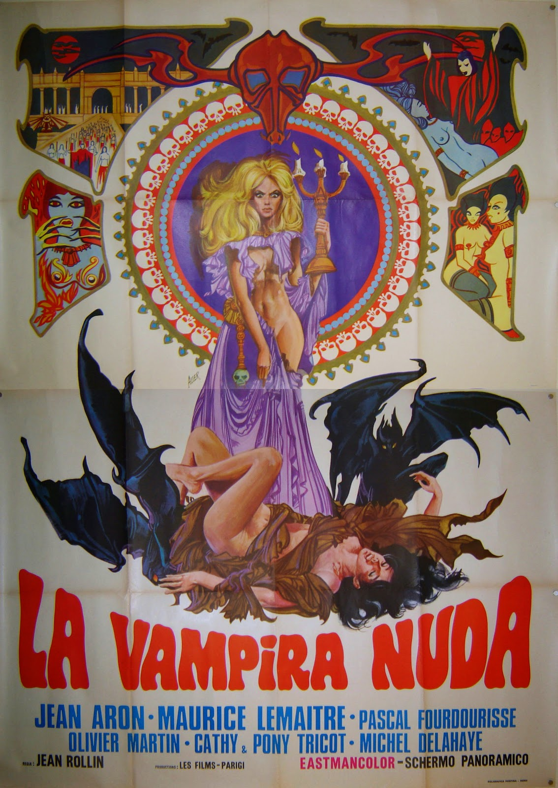 Italian Film Poster for French Film The Nude Vampire By Jean Rollin