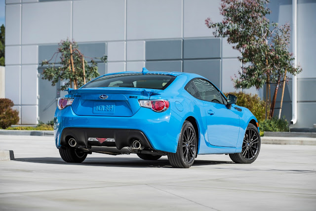 Rear 3/4 view of 2016 Subaru BRZ Series.HyperBlue