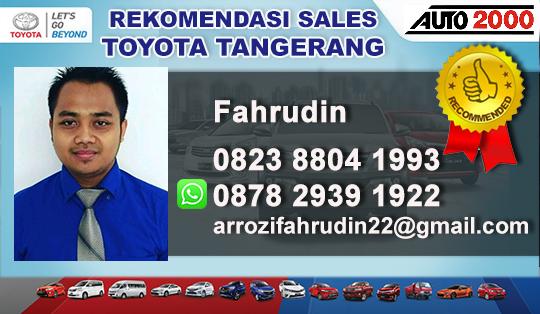 Rekomendasi Sales Toyota Tigaraksa Tangerang