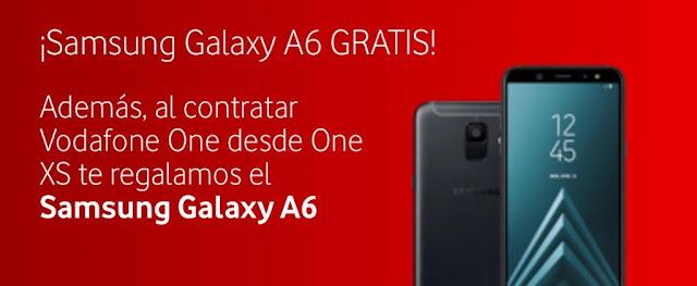 Vodafone regala un Samsung A6 por ser cliente de Fibra.