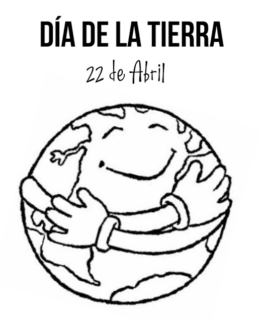 Dibujo para pintar del 22 de abril