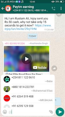 Tag Friends Whatsapp