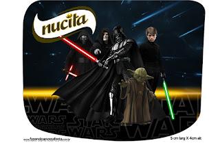 Etiqueta Nucita de Star Wars para Imprimir Gratis.
