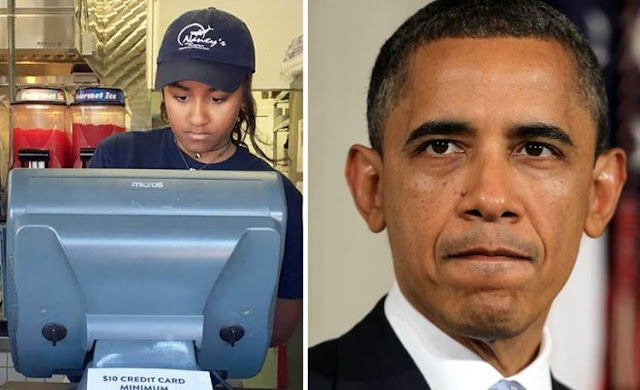 sasha obama daughter of barack obama
