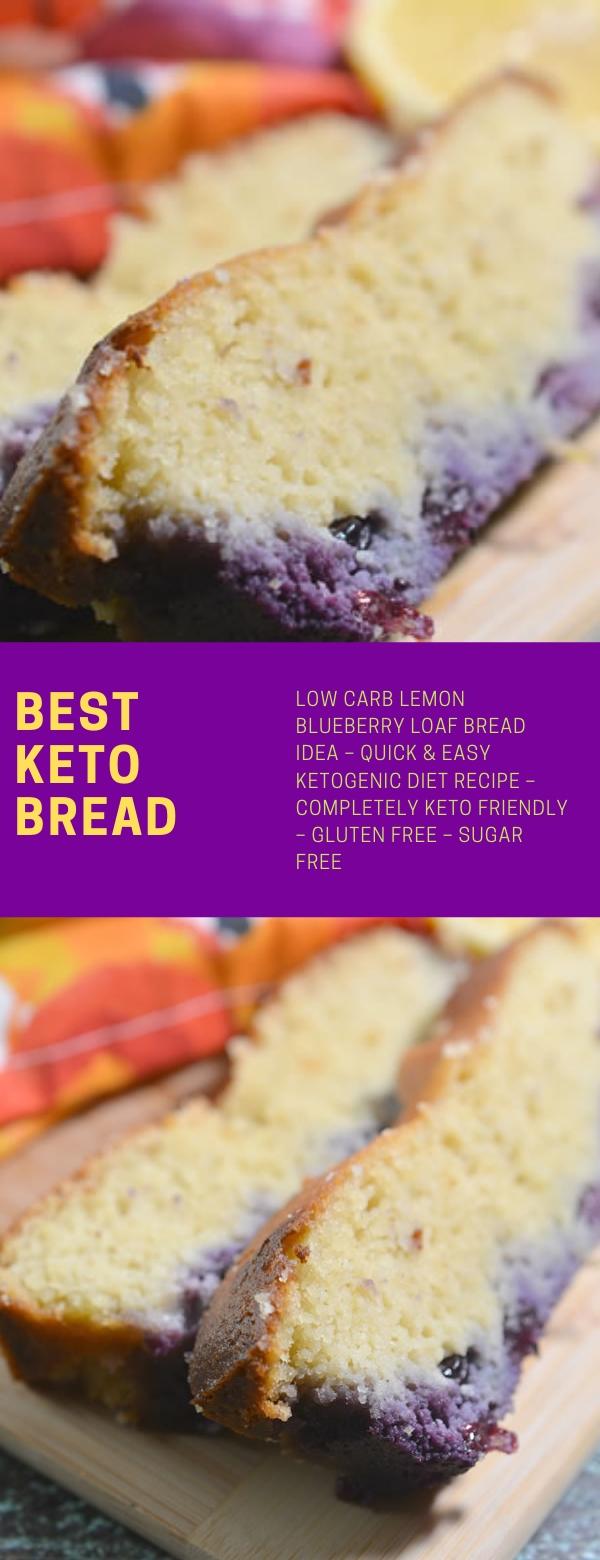 BEST KETO BREAD! LOW CARB LEMON BLUEBERRY LOAF BREAD IDEA – QUICK & EASY KETOGENIC DIET RECIPE – COMPLETELY KETO FRIENDLY – GLUTEN FREE – SUGAR FREE #KETORECIPES