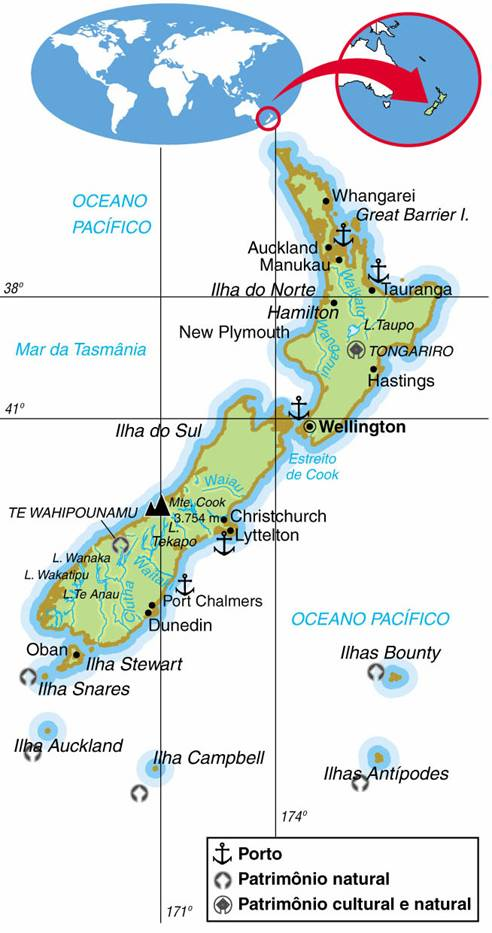 NOVA ZELÂNDIA, ASPECTOS GEOGRÁFICOS E SOCIOECONÔMICOS DA NOVA ZELÂNDIA