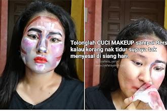 Kenapa kena Cuci Makeup sampai bersih ?