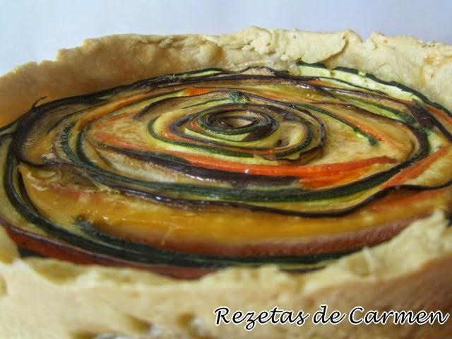 Quiche de verduras en espiral