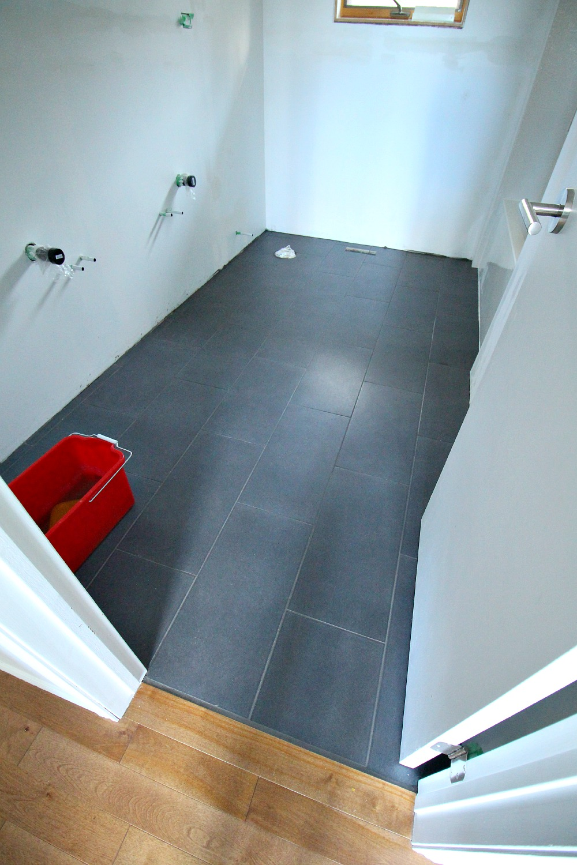 Charcoal grey floor tile