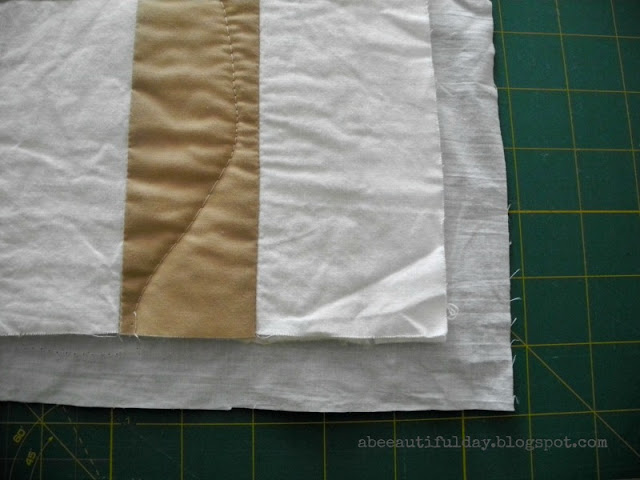 Tutorial-How to finish the quilt - The Self binding method-abeeautifulday.blogspot.com