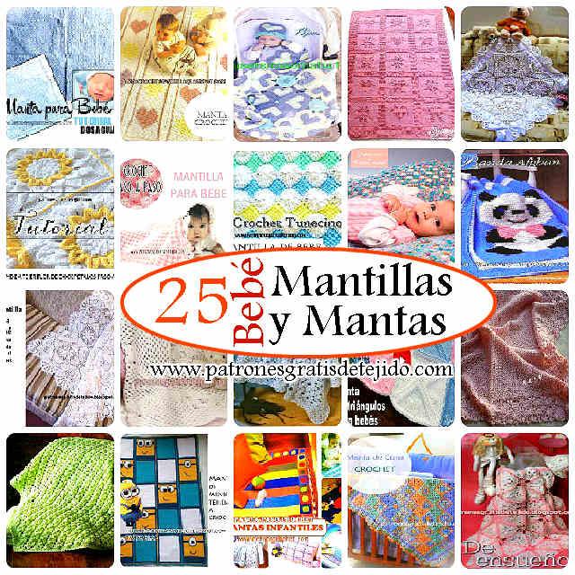 25 Mantillas y Mantas para Bebé / Patrones y tutoriales | Crochet y ...