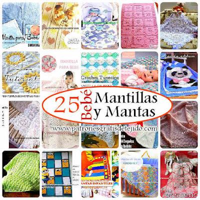 25 modelos de mantas cobijas y mantillas para bebés y niños con patrones y tutoriales
