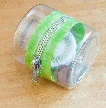 DIY ไอเดียงานประดิษฐ์กระเป๋าใส่เหรียญจากขวดพลาสติก