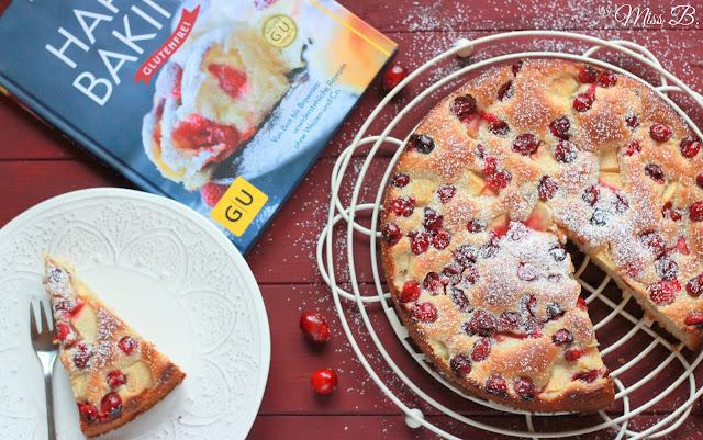 Schneller Cranberry-Apfel-Hefekuchen #KarensWanderbuch