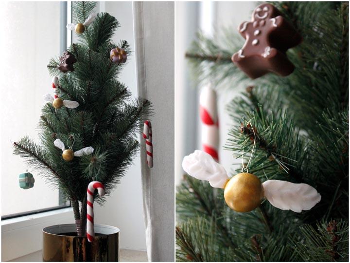Weihnachtsbaumschmuck aus Fimo