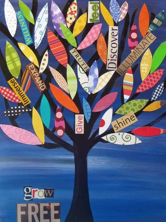 Club de art journal de Québec : Inspirations arbres