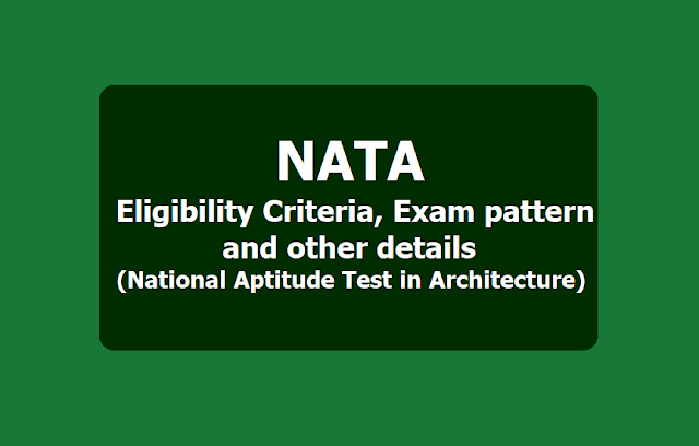 NATA Registration 2019 for National Aptitude Test in Architecture