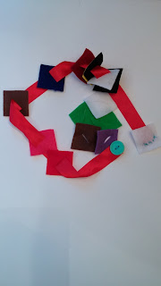 Ribbon with felt