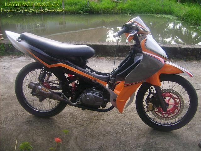 Modifikasi Motor Vega R 2005 Warna Orange
