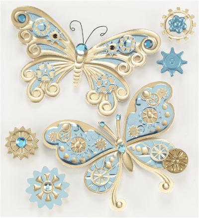 Jolee's Boutique Steampunk Butterflies Dimensional Stickers