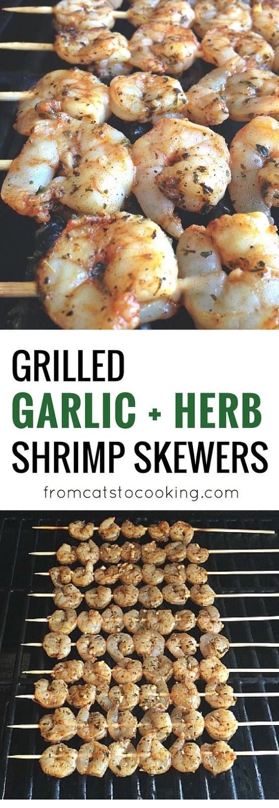 Grilled Garlic Herb Shrimp Skewers