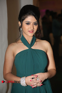Actress Shriya Sharma Pictures in Long Dress at Nirmala Convent Audio Launch 0023