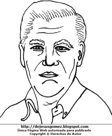 Imagen Mario Vargas LLosa para colorear, pintar e imprimir. Dibujo de Mario Vargas LLosa hecho por Jesus Gómez