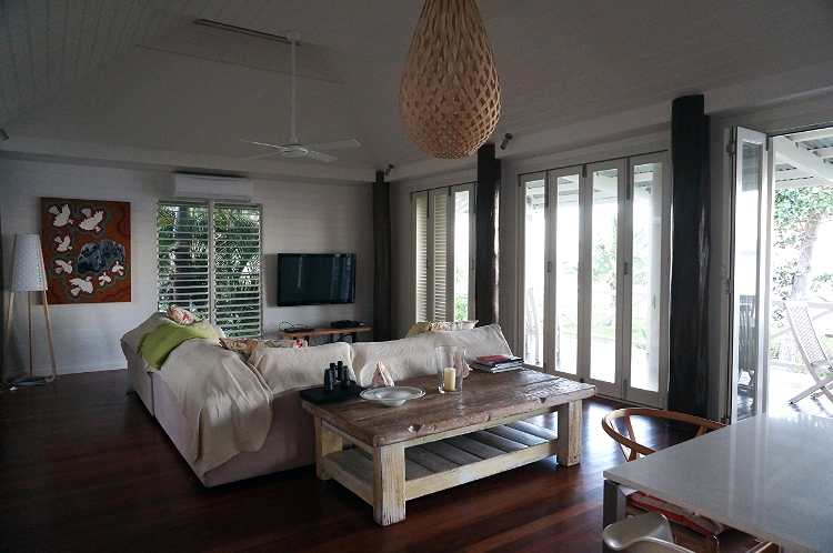 Windjana Beach House living room, Mission Beach, Australia, travel, Euriental