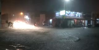 Chuva ultrapassa os 100 milímetros em Caicó e provoca alagamento em bairros
