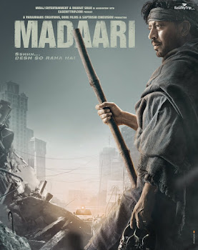 Poster Of Bollywood Movie Madaari (2016) 100MB Compressed Small Size Mobile Movie Free Download worldfree4u.com