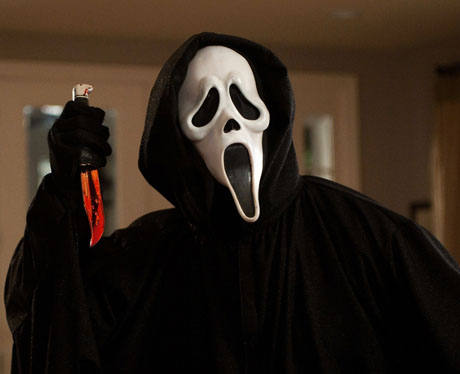 La máscara de Ghostface en Scream