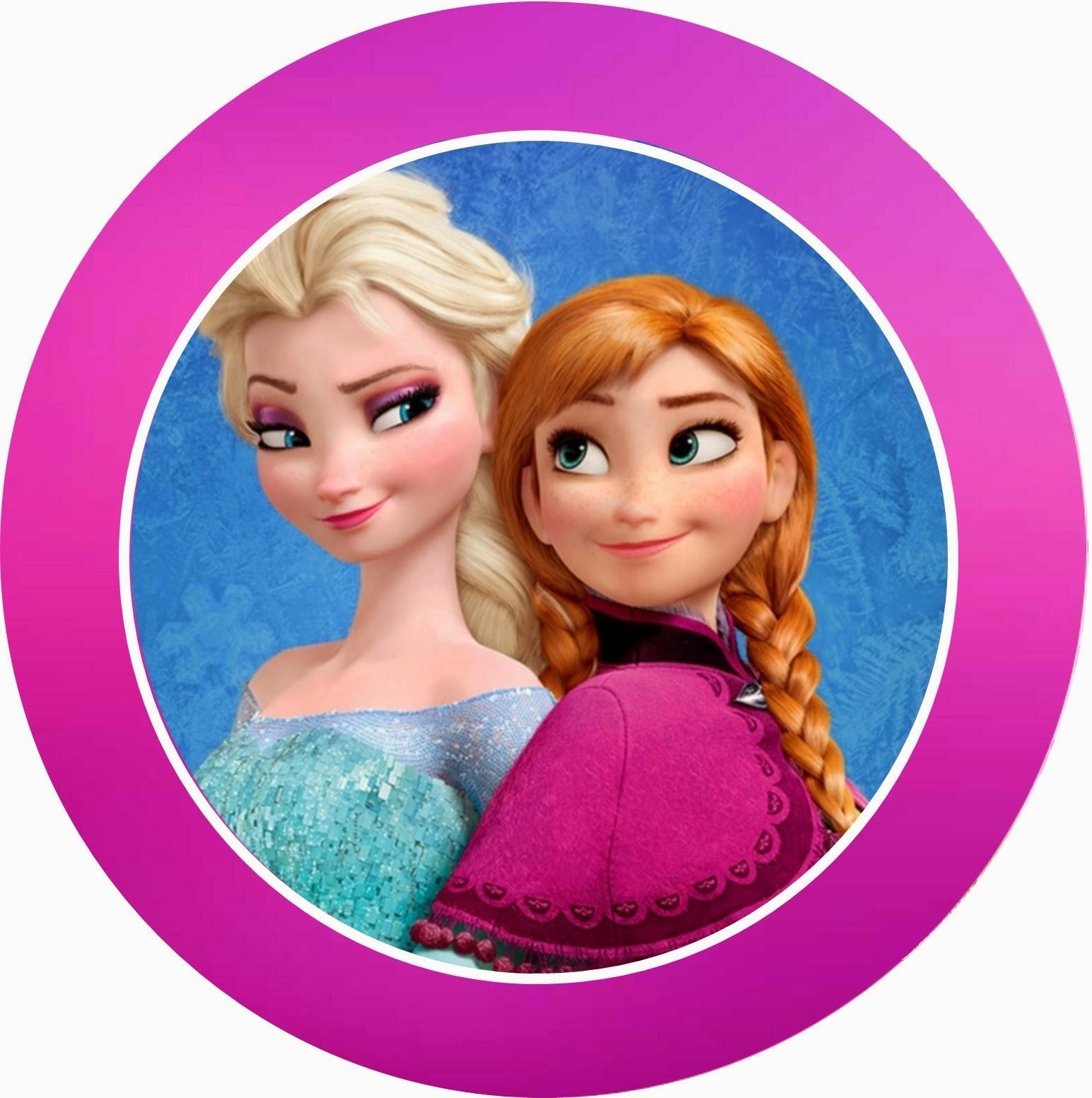 Frozen: Toppers, stickers o etiquetas para Imprimir Gratis.