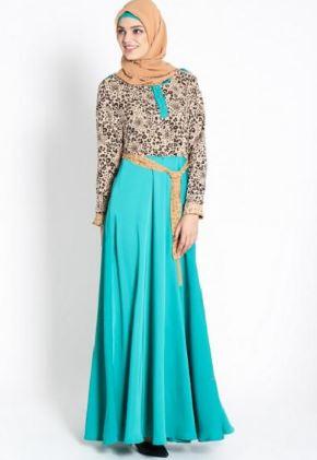 Baju gamis batik lebaran model terbaru cantik
