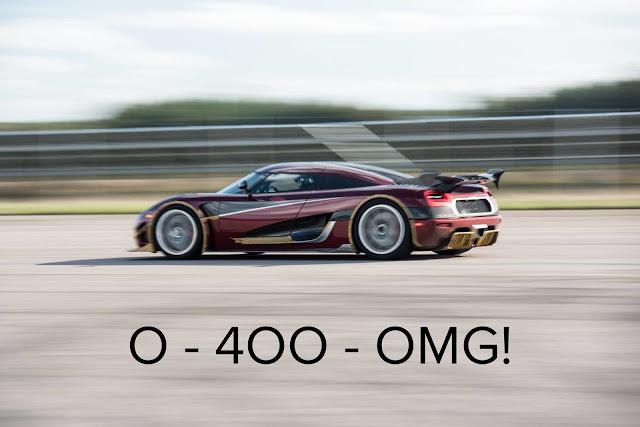 Koenigsegg Agera RS improved the 0-400-0 of the Bugatti Chiron