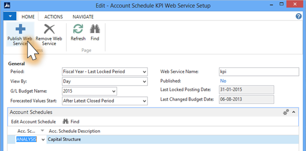 NAV 2016 for KPI Web Services