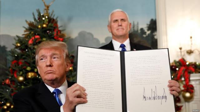 Ini Dia Pidato Trump Soal Yerusalem yang Kontroversial