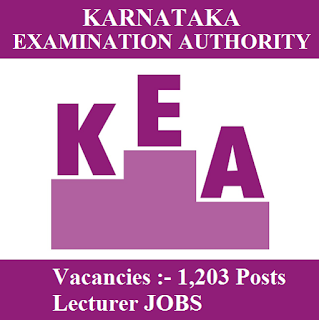 Karnataka Examinations Authority, KEA, Lecturer, Post Graduation, freejobalert, Sarkari Naukri, Latest Jobs, kea logo