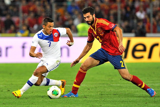 España y Chile en partido amistoso, 10 de septiembre de 2013