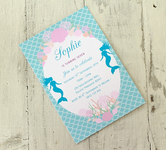 Love that party birthday invitations and party decorations this is available for purchase separately text is personalised to suit your occasion you can find the mermaid invitation in my online store solutioingenieria Image collections