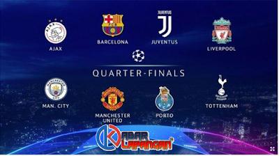 Hasil Drawing 8 Besar Liga Champions 2019