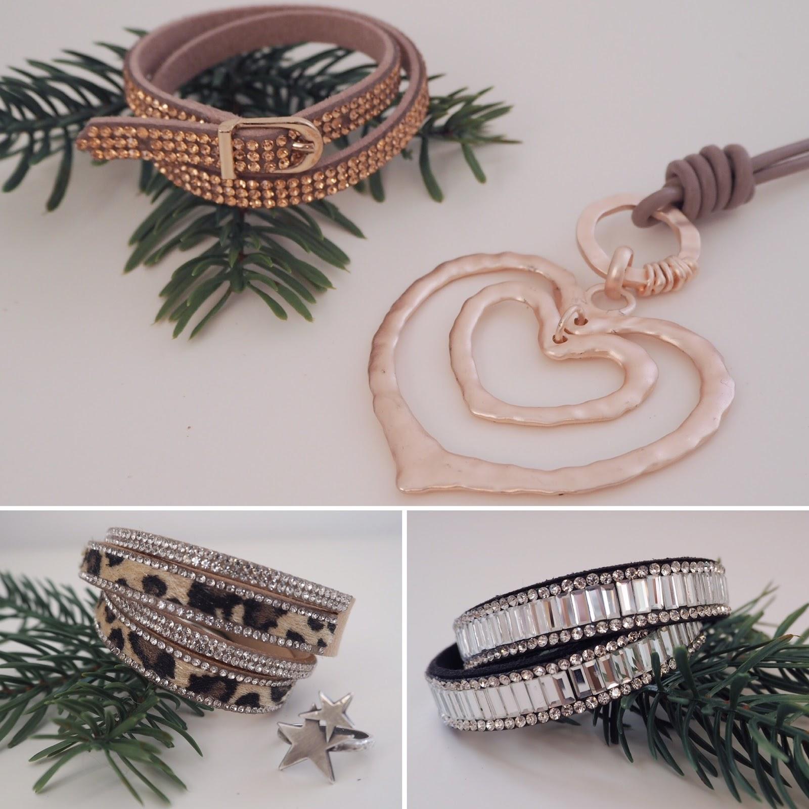 Lizzy O sparkly inexpensive wrap bracelets