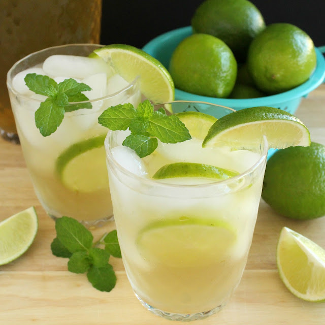 Green Tea Mojitos by LoveandConfections.com #BrunchWeek