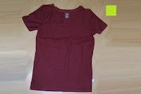 innen vorne: Lands' End - Baumwoll/Viskose-Shirt mit V-Ausschnitt